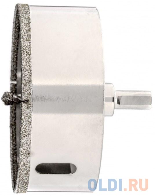Сверло алмазное по керамограниту 85 х 67 мм 3-гранный хвостовик// Matrix.