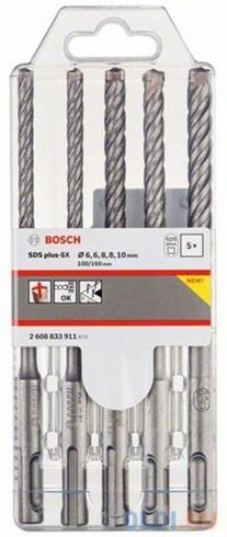 Набор буров BOSCH 2608833911 SDS plus-5x 5шт набор 6/6/8/8/10мм набор зубил и буров bosch sds plus 5шт 2607019455