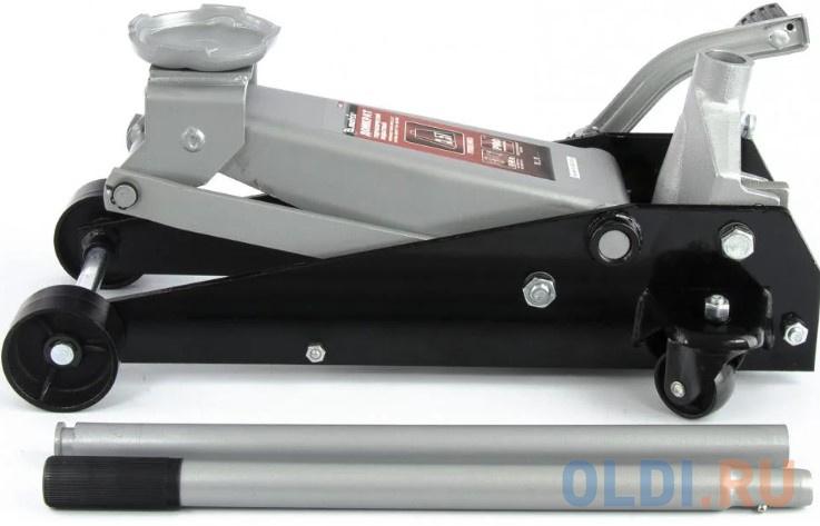 Домкрат MATRIX 51045 подкатный 3,5т h подъема 145–490мм с педалью фото
