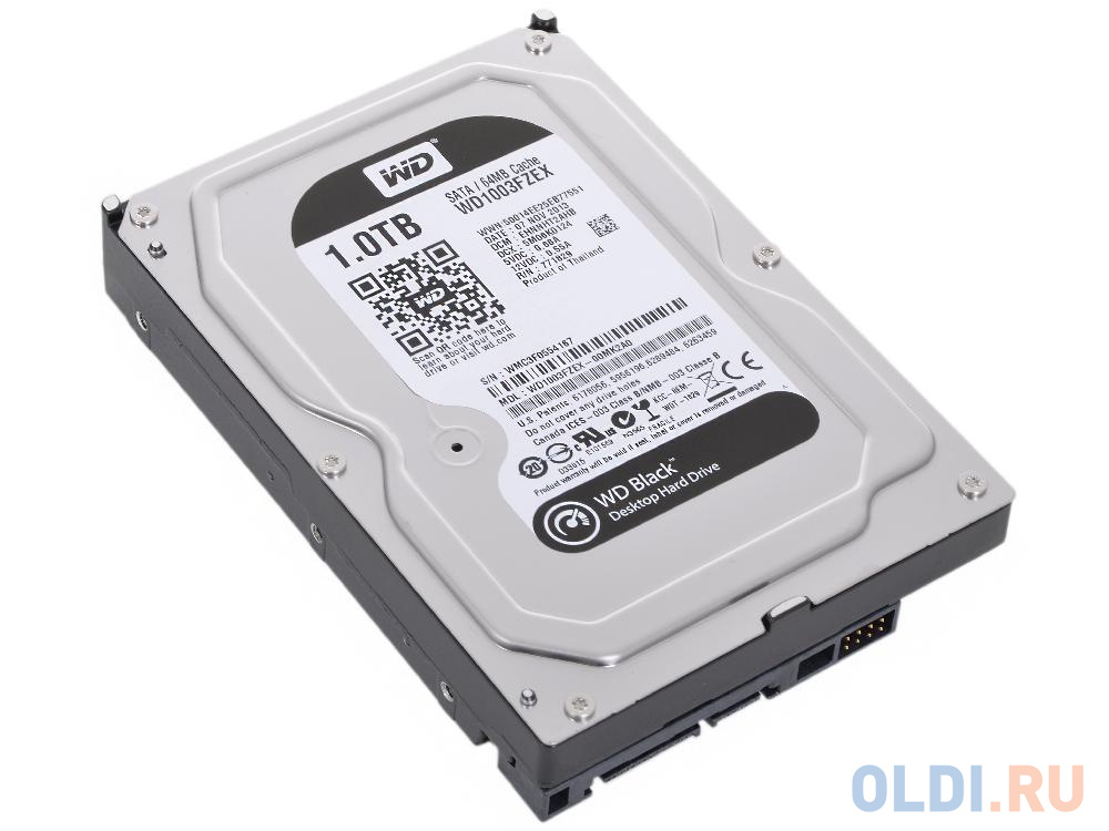 Фото - Жесткий диск 1Tb Western Digital WD Black WD1003FZEX, SATA III <7200rpm, 64Mb жесткий диск 500 gb western digital wd black wd5003azex sata iii
