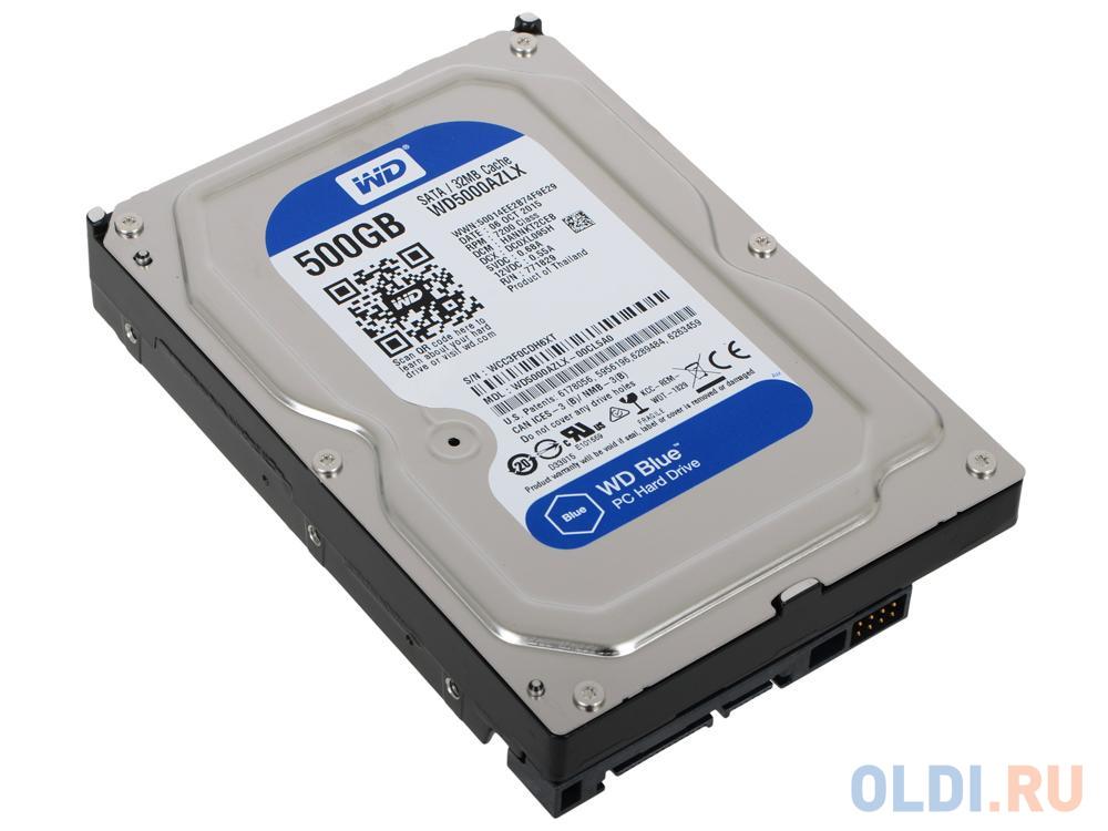Фото - Жесткий диск 500 Gb Western Digital WD Blue WD5000AZLX (7200RPM, 32МB, SATA III) жесткий диск 500 gb western digital wd black wd5003azex sata iii