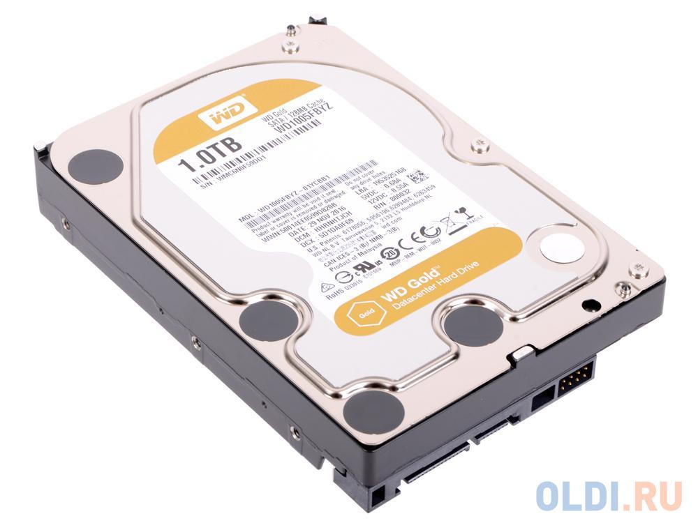 Фото - Жесткий диск 1Tb Western Digital WD1005FBYZ Gold, SATA III <128Mb,7200 rpm жесткий диск western digital gold wd1005fbyz 1tb 3 5 sata iii hdd wd1005fbyz