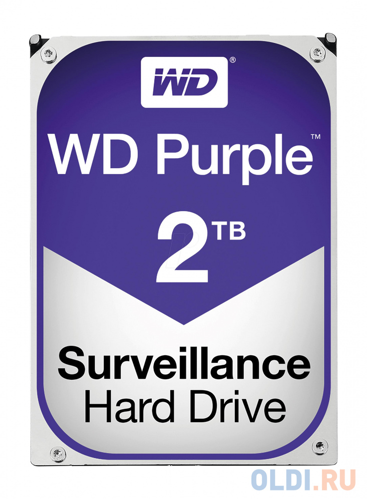 Фото - Жесткий диск 2Tb Western Digital WD Purple WD20PURZ, SATA III 5400RPM, 64Mb жесткий диск 500 gb western digital wd black wd5003azex sata iii