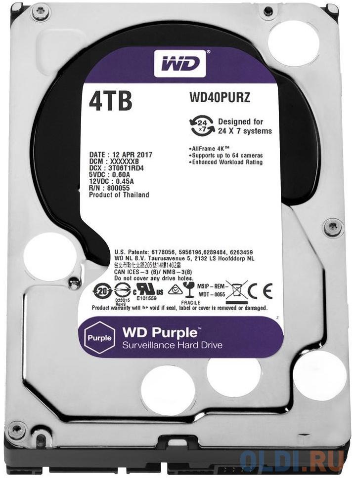 Жесткий диск Western Digital Purple WD40PURZ 4Tb фото