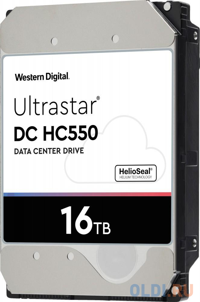 "Жесткий диск 3.5"" 16 Tb 7200rpm 512Mb cache Western Digital Ultrastar DC HC550 SATA III 6 Gb/s 0F38462 WUH721816ALE6L4"