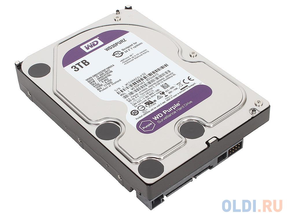 Фото - Жесткий диск 3Tb Western Digital WD Purple WD30PURZ, SATA III <5400RPM, 64Mb жесткий диск 500 gb western digital wd black wd5003azex sata iii