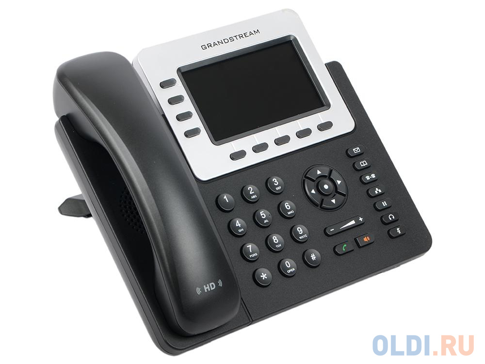 Телефон IP Grandstream GXP2140 4 линии 4 SIP-аккаунта 2x10/100/1000Mbps цветной LCD USB PoE