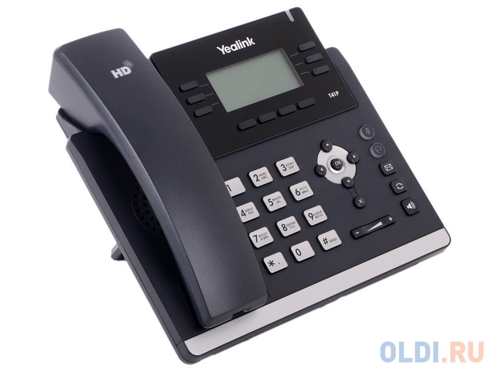 Телефон VoIP Yealink SIP-T41P SIP-телефон, 3 линии, BLF, PoE, GigE, БЕЗ БП