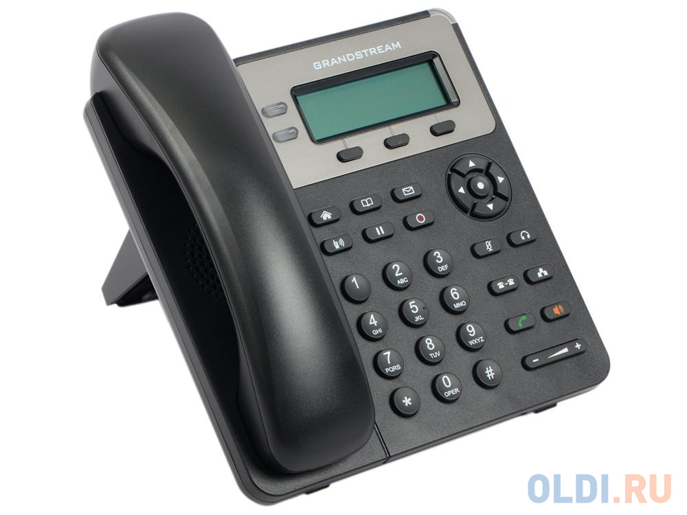 Фото - Телефон IP Grandstream GXP-1610 2 линии 1 SIP-аккаунт 2x10/100Mbps LCD (Аналог телефона VoIP Yealink SIP-T19 E2, 1 линия) sip телефон grandstream gxp 1625