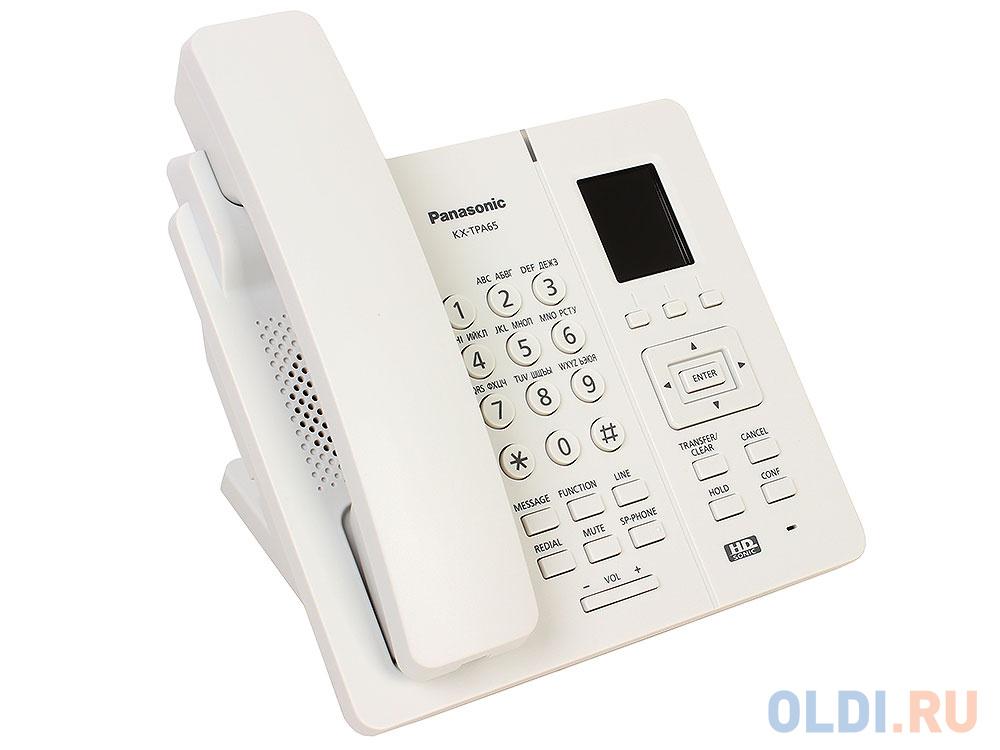 Телефон IP Panasonic KX-TPA65RU белый.