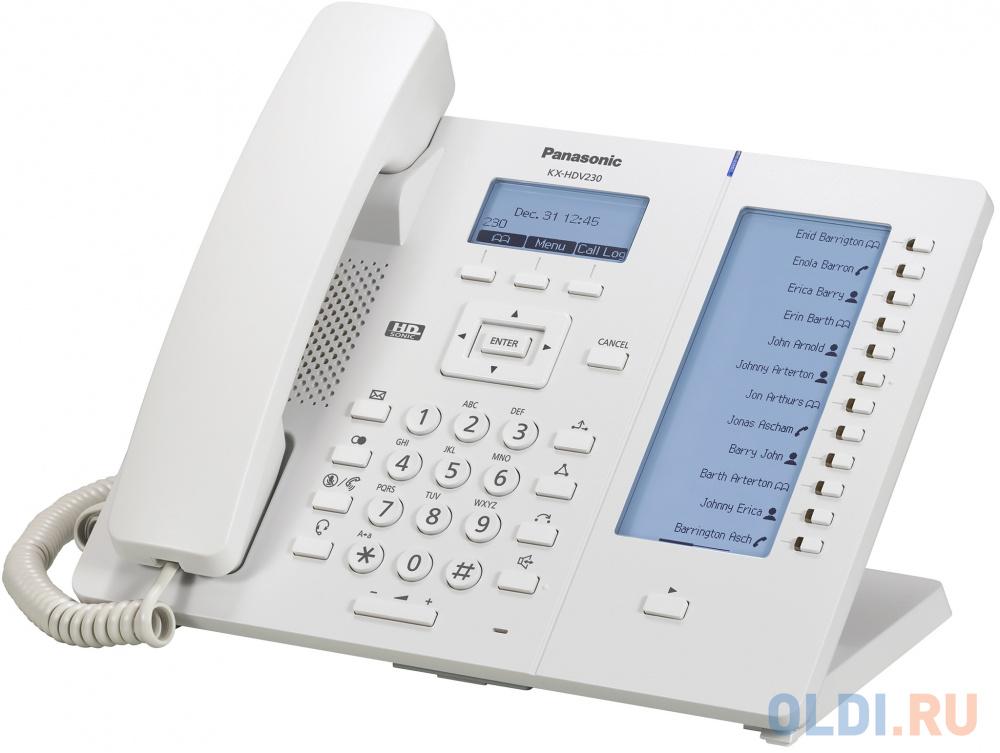 Телефон IP Panasonic KX-HDV230RU белый телефон ip panasonic kx hdv230rub черный