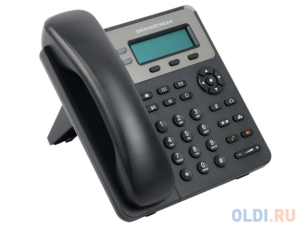 Фото - Телефон IP Grandstream GXP-1615 2 линии 1 SIP-аккаунта 2x10/100Mbps LCD (Аналог телефона VoIP Yealink SIP-T19P E2, 1 линия, PoE) sip телефон grandstream gxp 1625