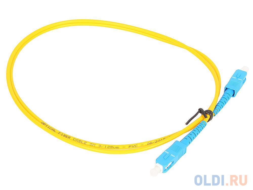 Оптический шнур Vcom, SC-SC,UPC, одномодовый,Simplex,