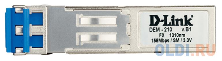 Фото - Модуль D-Link DEM-210/10/B1A (10шт. в коробке) Модуль SFP с 1 портом 100Base-FX для одномодового оптического кабеля, питание 3,3В (до 15 км) d link 211 a1a sfp трансивер с 1 портом 100base fx для многомодового оптического кабеля до 2 км