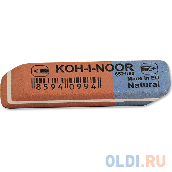 Ластик Koh-i-Noor BLUE STAR 1 шт прямоугольный 6521/60-56 фото