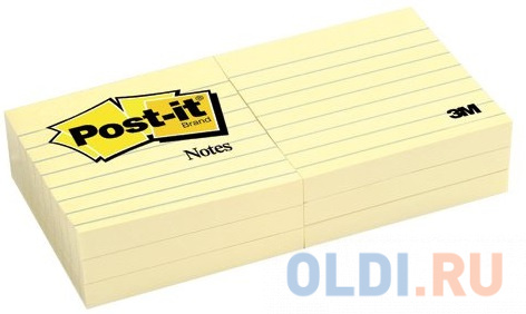 Бумага для заметок с липким слоем POST-IT, 76х76 мм, желтый, в лин.,100 л.,6 блок. в уп.,цена за уп. mustela цена в россии