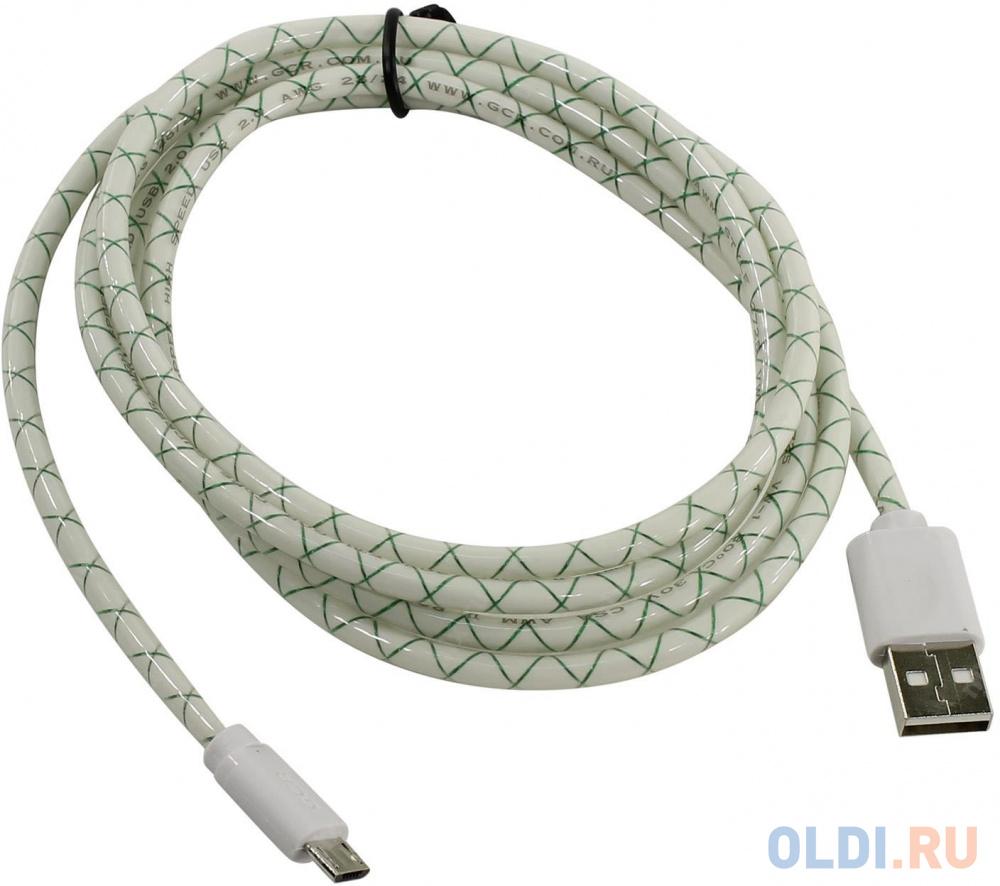 Фото - Кабель microUSB 1.5м Green Connection GCR-UA9MCB3-BD круглый белый кабель hdmi 1 8м green connection gcr hm330 1 8m круглый черный синий