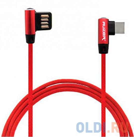 Фото - Кабель Type-C 1м Auzer AC-T26RD круглый красный кабель 30 pin 1м cbr human friends super link rainbow c круглый cb 273