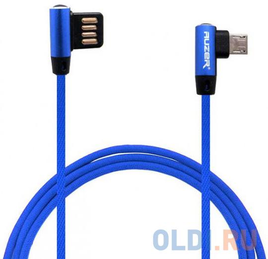 Фото - Кабель microUSB 1м Auzer AC-M26BE круглый синий кабель