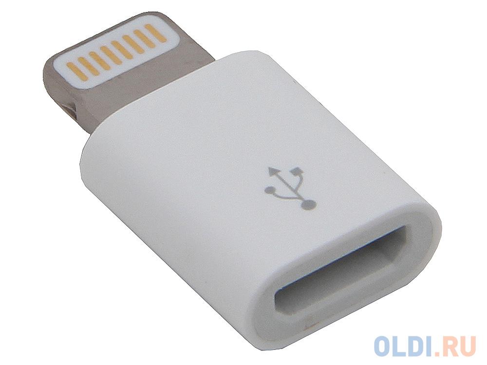 Адаптер Lightning microUSB Apple MD820ZM/A белый адаптер apple lightning to 30 pin для iphone md823zm a md823zm a