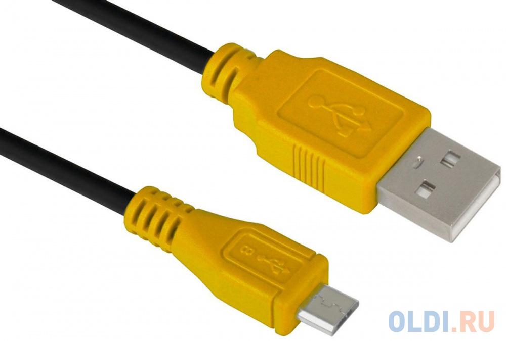Фото - Кабель microUSB 1м Green Connection GCR-UA3MCB1-BB2S-1.0m круглый черный/желтый snowflake and letter print christmas green sweatshirt