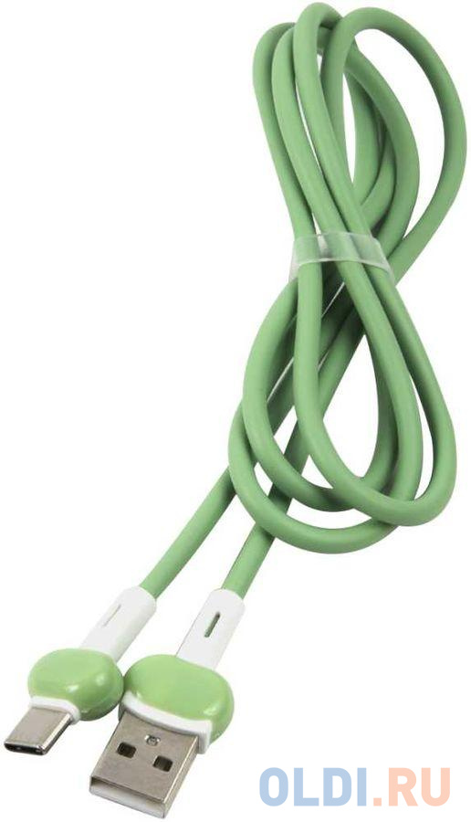 Кабель Type-C 1м Red Line Candy круглый зеленый