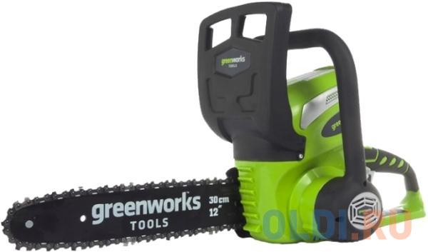 Аккумуляторная цепная пила Greenworks 40V G-max G40CS30 без АКБ и ЗУ (20117) газонокосилка аккумуляторная greenworks g max g40lm35 2501907 без акб и зу