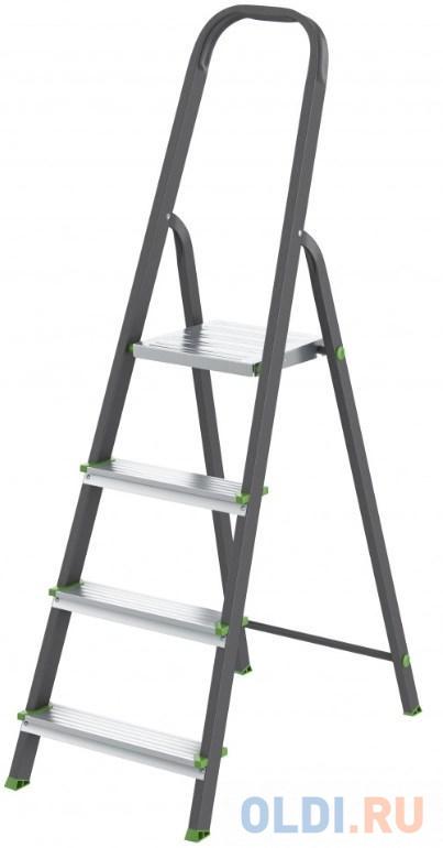 Стремянка, 4 ступени, стальной профиль, алюминиевые ступени, Россия // Сибртех стремянка wipro 9902 жираф2 2 ступени