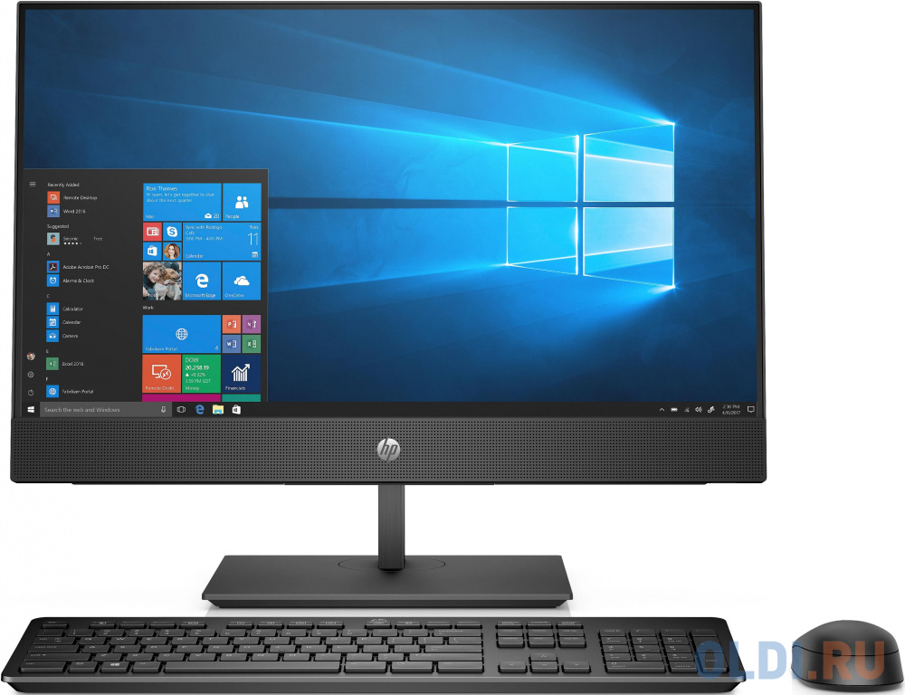 "Моноблок HP ProOne 440 G5 23.8"" Full HD i5 9500T (2.2)/8Gb/SSD256Gb/UHDG 630/DVDRW/CR/Windows 10 Professional 64/GbitEth/WiFi/BT/120W/клавиатура/мышь/Cam/черный 1920x1080"