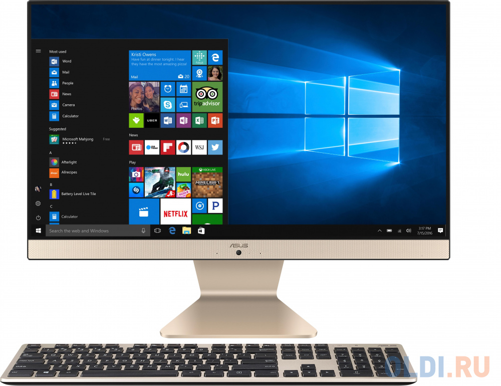 "Моноблок 23.8"" ASUS V241FAK-BA050T 1920 x 1080 Intel Core i3-8145U 8Gb 1 Tb Intel UHD Graphics 620 Windows 10 Home черный белый 90PT0292-M01580"
