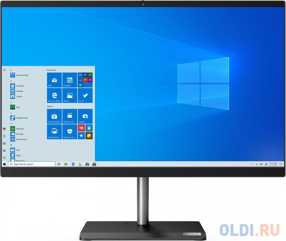 "Моноблок Lenovo V30a-22IML 21.5"" Full HD i3 10110U (2.1)/8Gb/1Tb 7.2k/UHDG/CR/Windows 10 Professional 64/GbitEth/WiFi/BT/65W/клавиатура/мышь/Cam/черный 1920x1080"