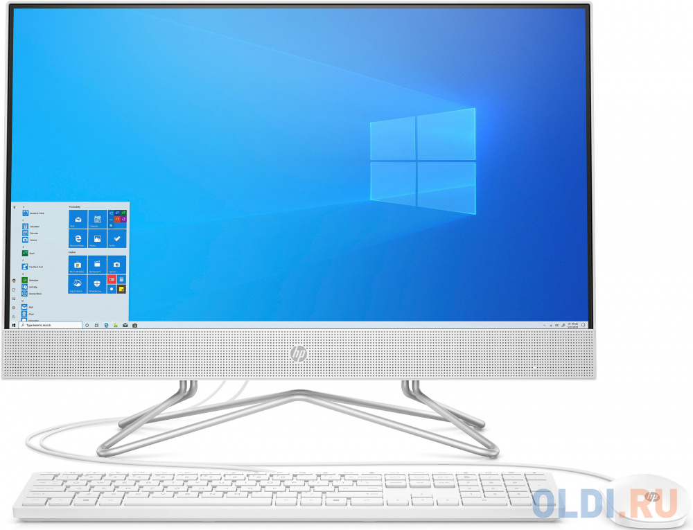 HP 24-df0013ur AiO 23.8(1920x1080)/AMD Athlon 3050U(2.3Ghz)/4096Mb/128SSDGb/noDVD/Int:AMD Intergrated Graphics /Cam/WiFi/war 1y/Snow White/DOS + USB KBD, USB MOUSE