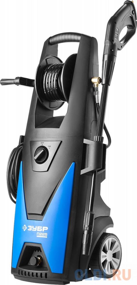 Мойка высокого давления (минимойка) электр ЗУБР Профессионал АВД-П225 макс. 225Атм408л/ч3000Втколесабесщет двигАВТО-СТОПбарабанпистолет 375.