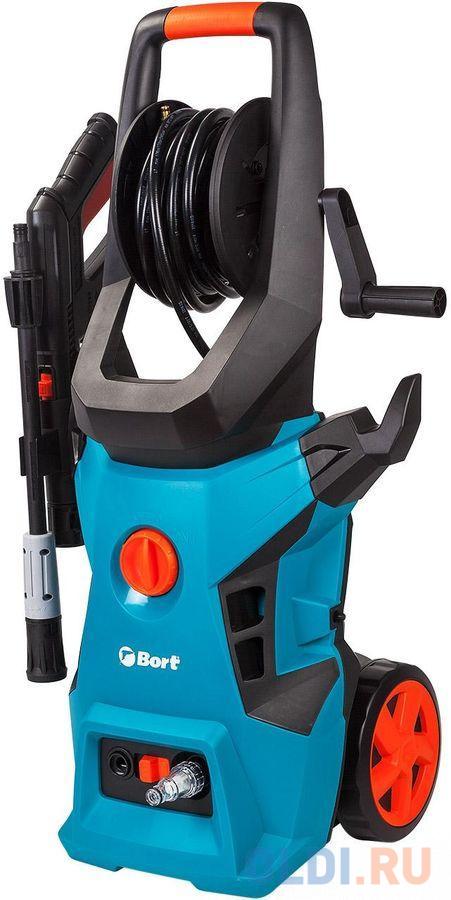Фото - Bort BHR-2500R-Pro Мойка высокого давления [91276018] { 2400 Вт, максимальное давление 180 бар, рабочее давление 150 бар, 7,5 л/мин, 8,9 кг, набор аксессуаров 3 шт } компрессор автомобильный eco ae 015 3 12 в 150 вт 40 л мин 10 бар манометр 7 бар сумка