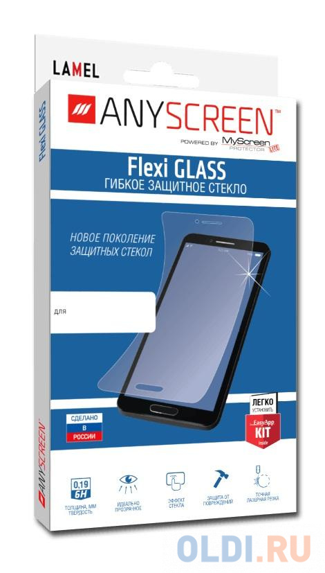 Пленка защитная lamel гибкое стекло Flexi GLASS для Sony Xperia E5, ANYSCREEN