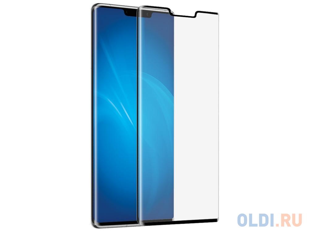 Закаленное стекло 3D DF hwColor-109 black с цветной рамкой для Huawei Mate 30 Pro