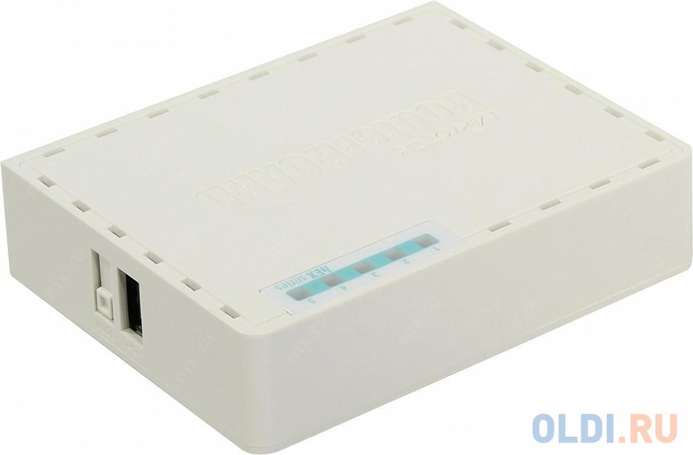 Маршрутизатор MikroTik RB750GR3 4xLAN LAN USB белый.