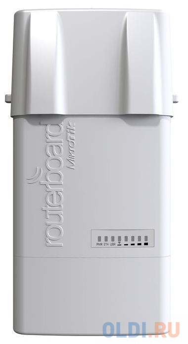 Точка доступа MikroTik RB911G-5HPacD-NB NetBox 5  (720MHz CPU 128MB RAM 1xGigabit LAN built-in 5Ghz 802.11ac 2x2 dual chain wireless with two RP-SM.