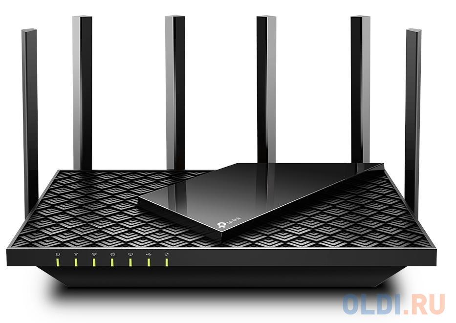 Фото - Wi-Fi роутер TP-LINK ARCHER AX73 802.11abgnacax 5378Mbps 2.4 ГГц 5 ГГц 4xLAN черный wi fi роутер tp link archer a6 черный