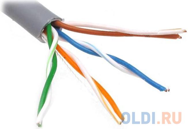 Фото - Кабель UTP 4 пары категория 5E Telecom UTP4-TC1000C5EL-CU-IS серый 305м кабель hdmi 20 0м vcom telecom v1 4 3d cg150s 20m
