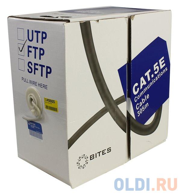 Кабель F/UTP indoor 4 пары категория 5e 5bites одножильный 24AWG CCA PVC 305m FS5505-305A сетевой кабель 5bites utp solid 6cat 23awg cca pvc 100m us6575 100a