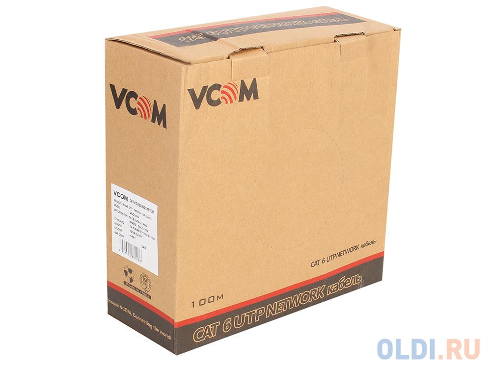 Кабель VCOM UTP 4 пары кат.6 (бухта 100м) p/n:VNC1020 кабель telecom ultra utp 4 пары кат 5е бухта 100м p n tus44148e