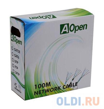 Кабель Aopen FTP 4 пары кат.5е (бухта 100м) p/n: ANC5241 кабель telecom ultra utp 4 пары кат 5е бухта 100м p n tus44148e