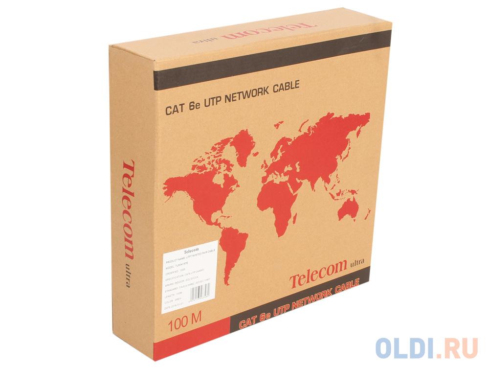 Кабель Telecom Ultra UTP 4 пары кат.6 (бухта 100м) p/n: кабель telecom ultra utp 4 пары кат 5е бухта 100м p n tus44148e