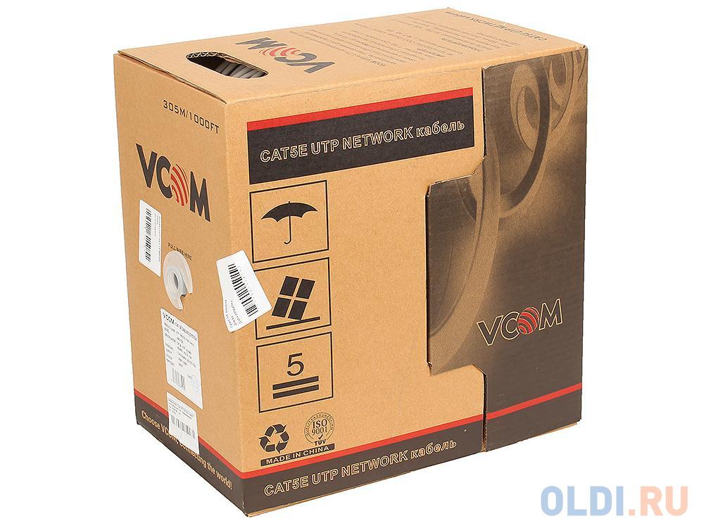 Кабель Vcom CCA UTP кат.5е 4 пары, бухта 305м кабель telecom ultra utp 4 пары кат 5е бухта 100м p n tus44148e