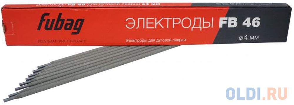 Электроды FUBAG 38857  электрод сварочный с рутилово-целлюлозным покрытием fb 46 d4.0мм пачка 0.9 к.