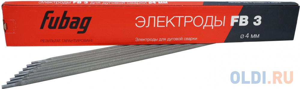 Электрод сварочный с рутиловым покрытием FB 3 D4.0 мм (пачка 0.9 кг) FUBAG шт.