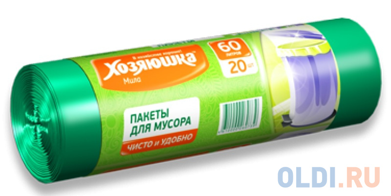 Пакеты для мусора Хозяюшка Мила 07003 стекломой хозяюшка мила kw 01 зеленый