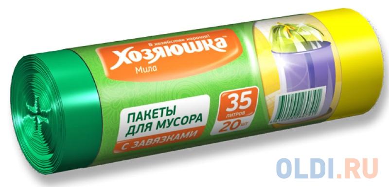 Пакеты для мусора Хозяюшка Мила 07005 стекломой хозяюшка мила kw 01 зеленый