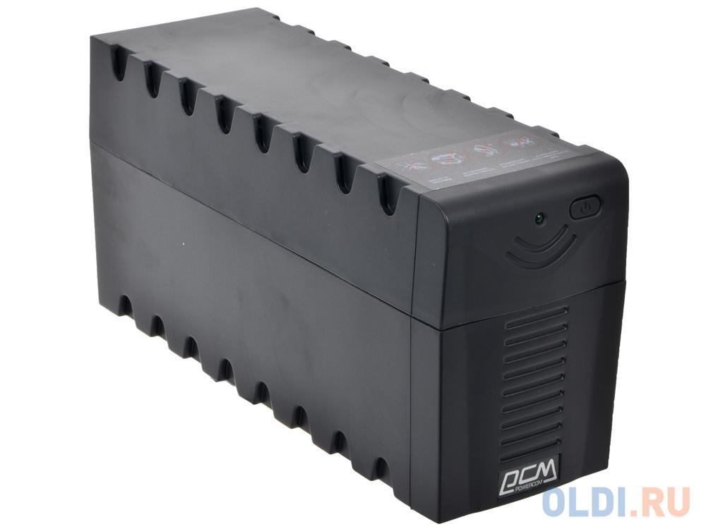 ИБП Powercom RPT-600AP Raptor 600VA/360W AVR,USB (3 IEC) черный ибп powercom rpt 1025ap raptor 6 iec